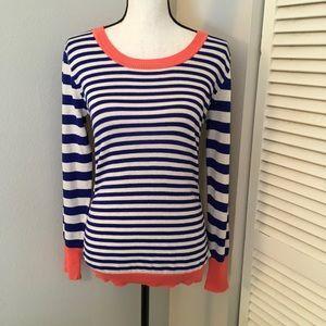 [Pink Rose] Stripe LS Sweater